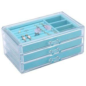 Jewelry Box Velvet Jewelry Organizer Blue Tiffany